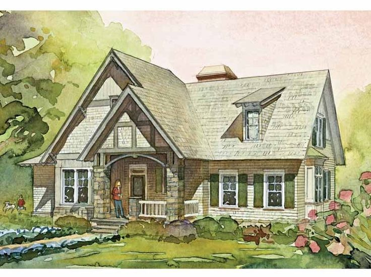 one story english cottage house plans