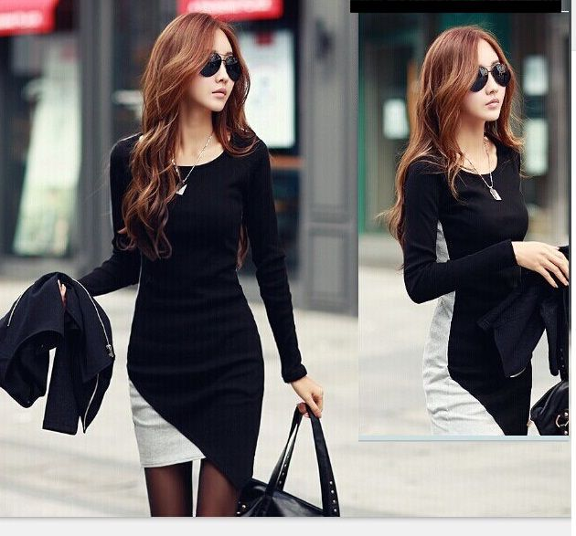 16763BK dress (black) Fabric: fleece sanding L: Shoulder: 38cm Sleeve: 56cm Bust: 82cm Waist: 80cm Hips: 86cm Length: 79-90cm