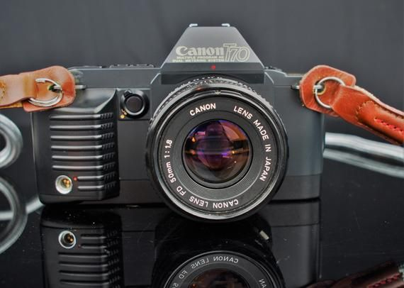 Canon Tlb 35mm Slr Film Camera Quantary 28mm F2 8 Wide Angle Etsy Slr Film Camera Vintage Film Camera Wide Angle