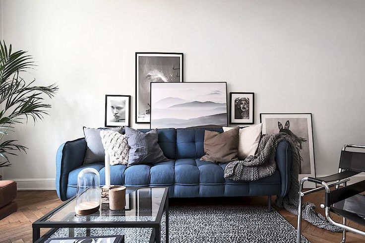 Scandinavian Style | Stockholm Apartment with a touch of blue