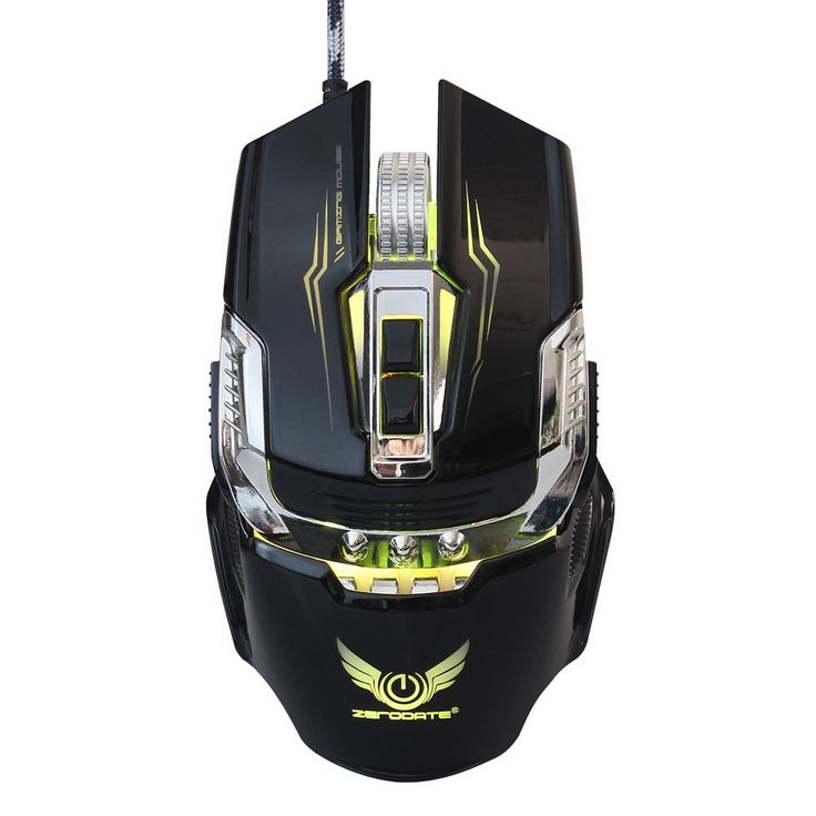 ZERODATE X900 Gaming Mouse Breathing Light Ergonomic 7 Buttons Sales Online black - Tomtop.com