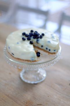 Blueberry And White Chocolate Cheesecake | The Official Website for Donal Skehan