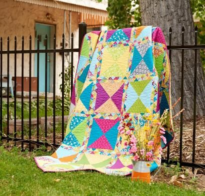 The Fair Day Quilt Kit from RJR will make you feel festive indeed! You'll receive a pattern and delightful fabric from the Pie Making Day collection to sew this cheerful quilt top. Featuring quick-...