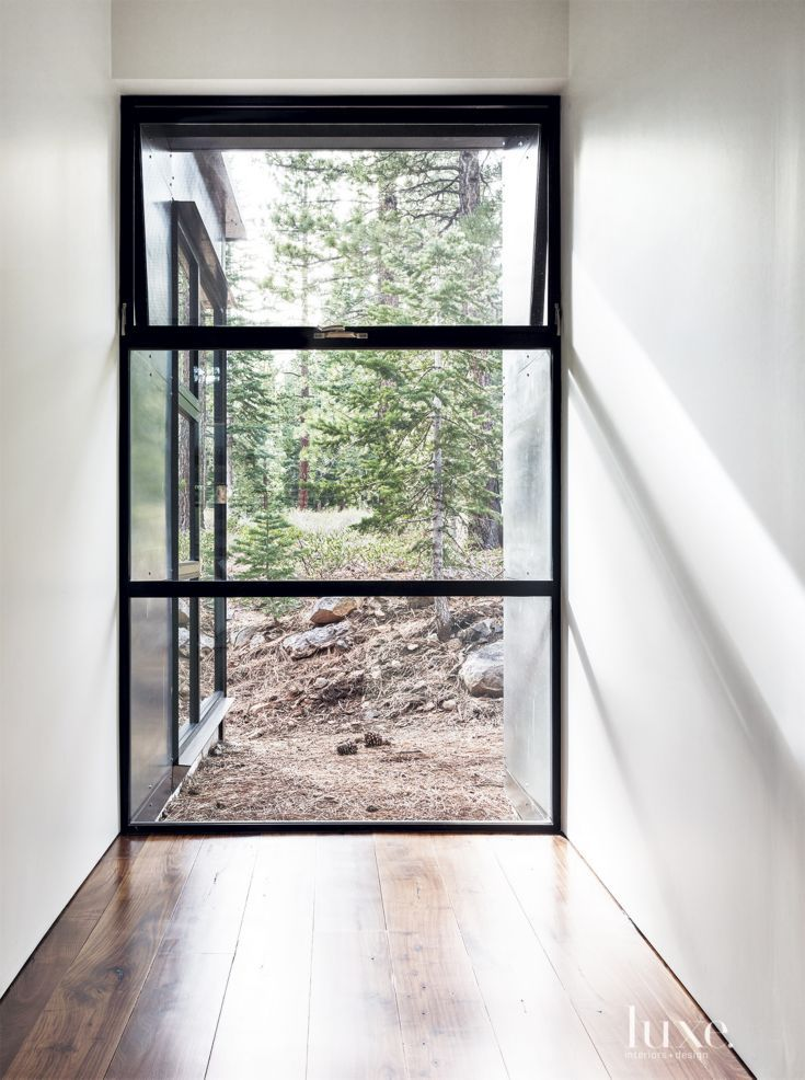 Contemporary Neutral Window With Steel Accents