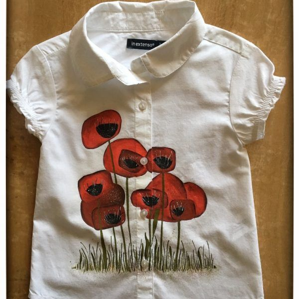 Camasuta Pictata 'Poppies Field' handmade with love by Crisia