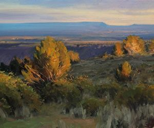 Jesse Powell - Juniper Sunset- Oil - Painting entry - January 2014 | BoldBrush Painting Competition