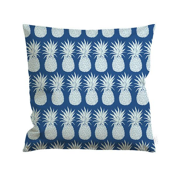 20x20in Cotton Canvas Pineapple Plantation Pillow Cover