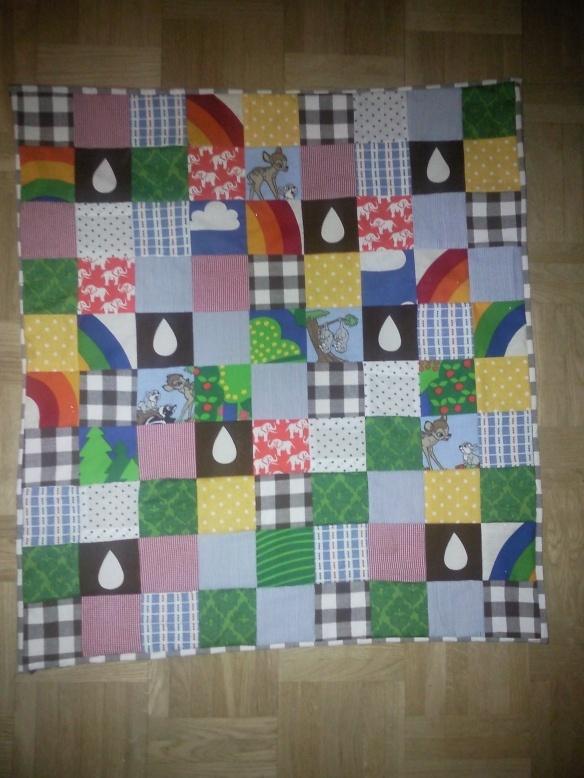 Lapptäcke för barn, baby quilt, 70-tal.