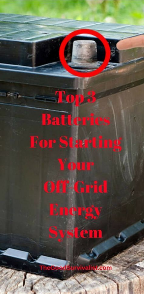 Choosing the right batteries for your off-grid system is vital.   http://www.thegoodsurvivalist.com/top-3-batteries-for-starting-your-an-off-grid-energy-system/ #AlternativeHomeEnergy