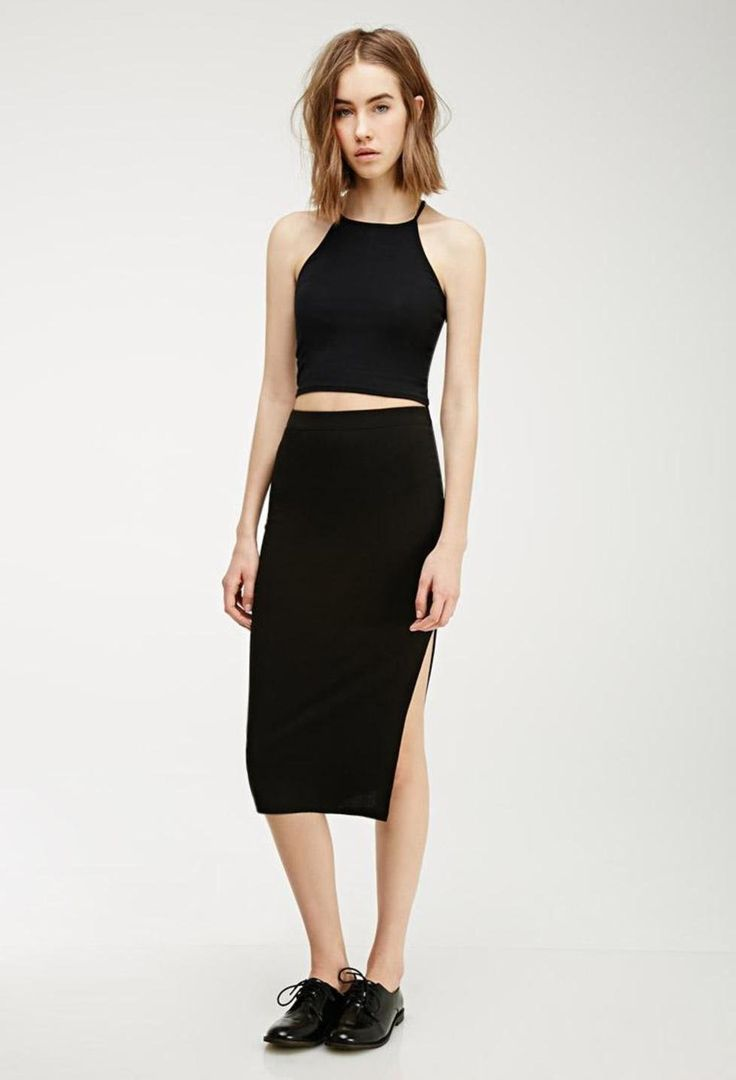 black-slit-midi-skirt-