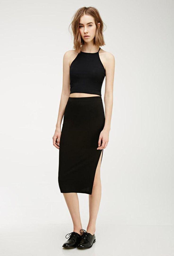 black-slit-midi-skirt-
