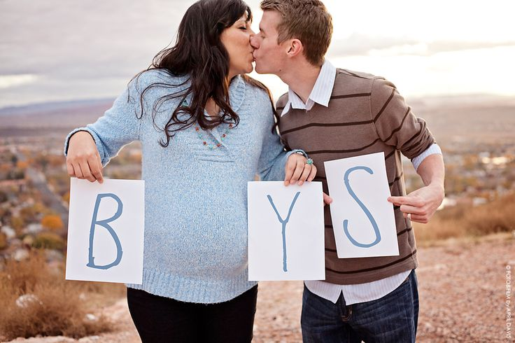 Twin boys maternity photo