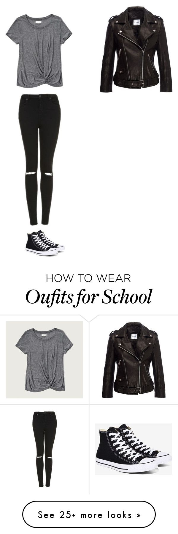 """First day of school"" by artist123-1 on Polyvore featuring Abercrombie & Fitch, Anine Bing, Topshop and Converse"