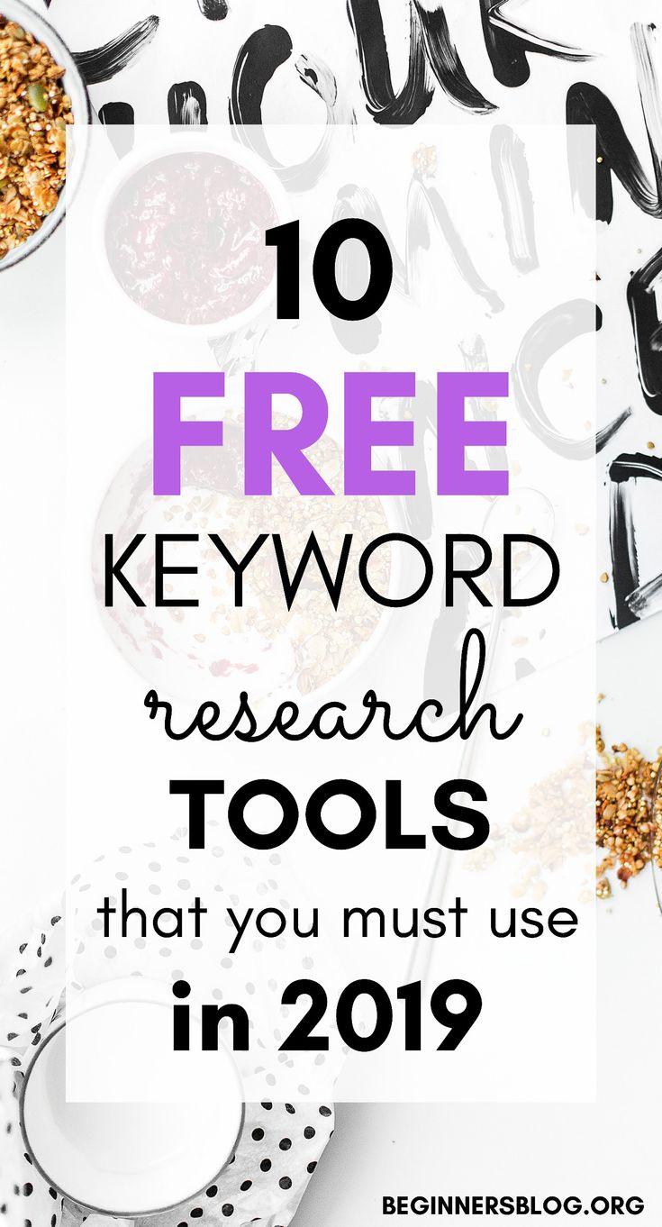10 kostenlose Keyword-Recherche-Tools, die Sie 2019 oder später verwenden müssen
