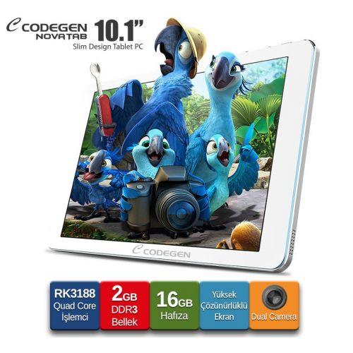 "Codegen NOVATAB 10,1"" QuadCore RK3188 16GB Çift Kamera Tablet - BizdeHesapli.Com da İNDİRİMDE!"
