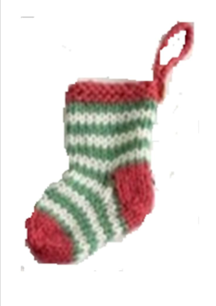 Free Knitting Patterns For Christmas Stockings : knit how to free mini christmas stocking pattern