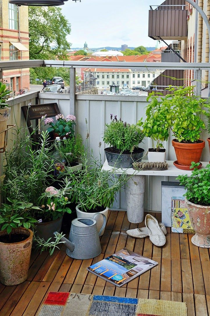 78 images about apartment deck balcony garden on for Small balcony garden ideas