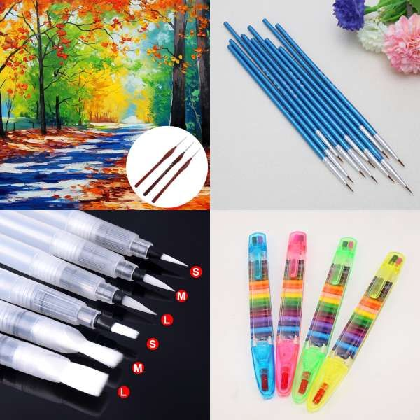 40rt High Quality Taklon Hair Wooden Handle Art Paint Painting