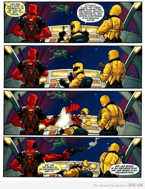 hehe violence: Geek, Comic, Stars, Funny, Star Wars, Deadpool, Starwars, Superhero
