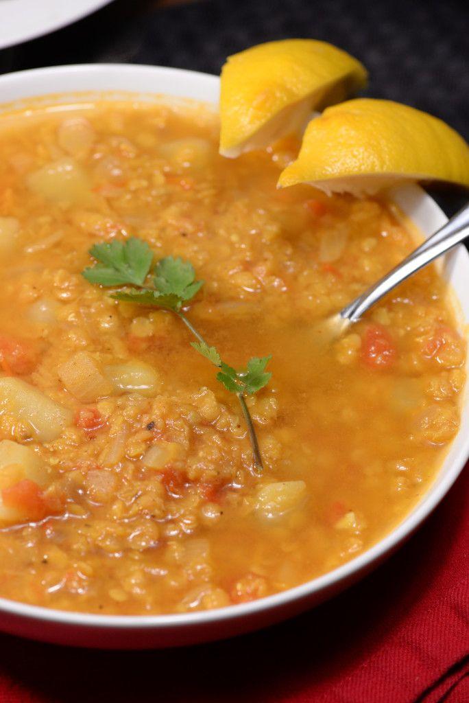 Kuwait red lentil soup