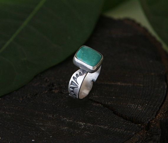 Size 8 Turquoise ring turquoise sterling silver ring