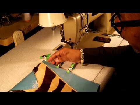 How To Make A Leather Clutch Bag Part 4 of 5 - YouTube