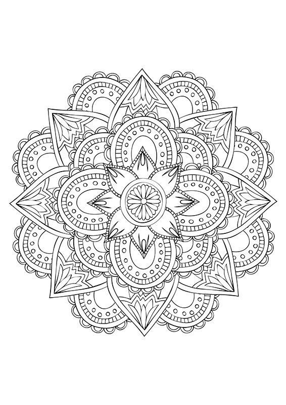 Tout les dimanches retrouvez les coloriages sur le site de loisirs créatifs Creapassions.com, aujourd'hui des Mandalas à imprimer et colorier.