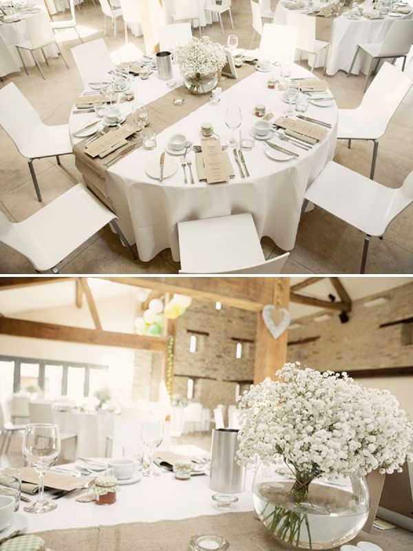 winkworth farm wedding burlap table decorationsround