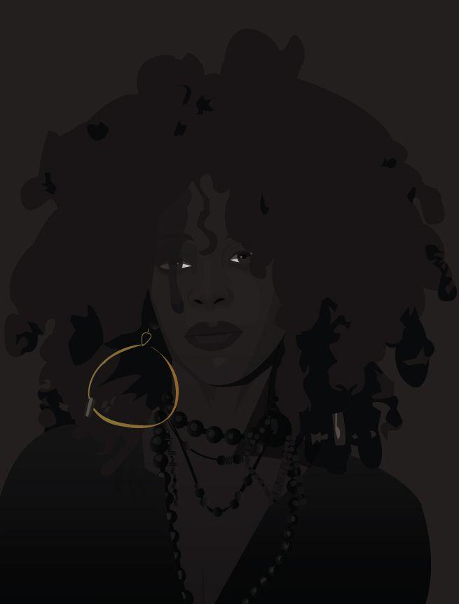 Black Women Art! — spacemetal: DAY 25: Erykah Badu  ArtistCasey...