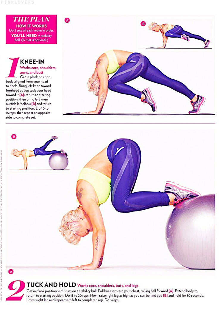 Check Pink's Rock-Solid Abs Workout Routine in Shape Magazine | bonzalDAILY.com