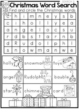 FREE Christmas Word Searches and Coloring Page | School | Pinterest ...