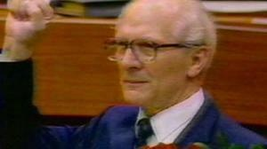 Erich Honecker, the 2nd secretary general of the communist party of the former GDR, he was in charge when the wall fell