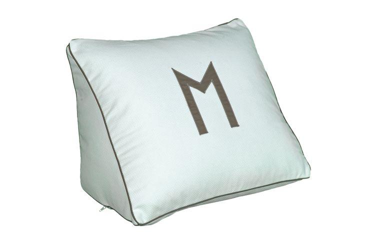 Leontine Linen Wedge Monogram pillow bedding