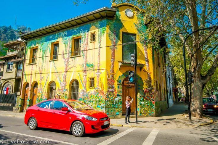 Walking tour of murals Barrio Bellavista Santiago Chile |LiveDoGrow