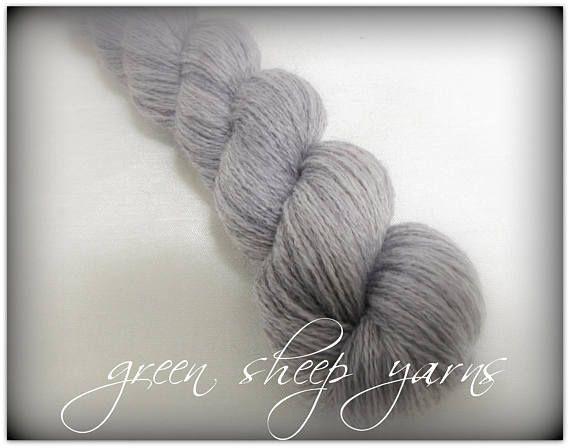 Spring Blooms  Light gray/ Hand painted yarn/ Repurposed yarn