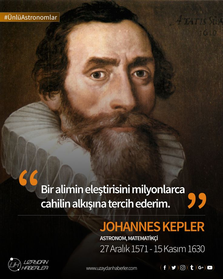Johannes Kepler  Astronomi ve astroloji arasındaki farkın belirsiz olduğu, hala Aristo ve Batlamyus'un yer merkezli evren modelinin geçerli olduğu dönemde yaptığı çalışmalarla 17. Yüzyıl bilimsel devriminin en önemli figürlerinden biri oldu.