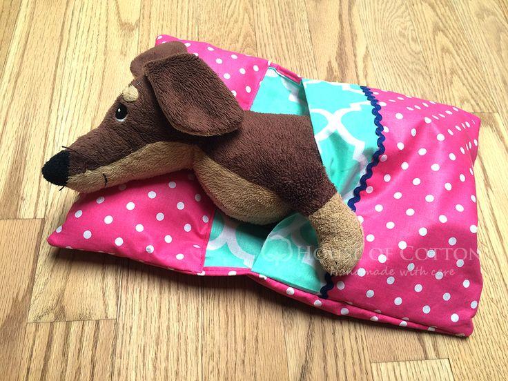 Sleeping bag for a doll or a cuddly / Śpiworek dla przytulanki lub lalki