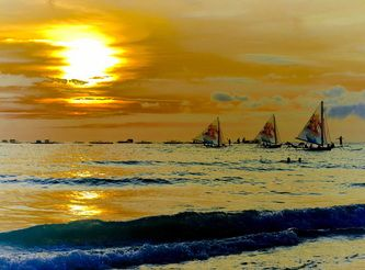 Boracay, one of the famous beach in the world.