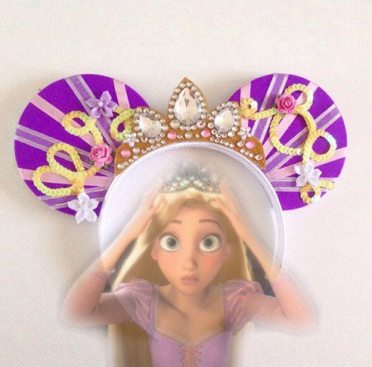Disney's Tangled Rapunzel Mickey Mouse Minnie Mouse ears