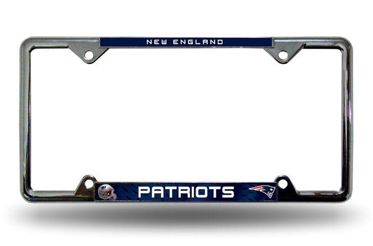 New England Patriots Chrome License Plate Frame (backorder)