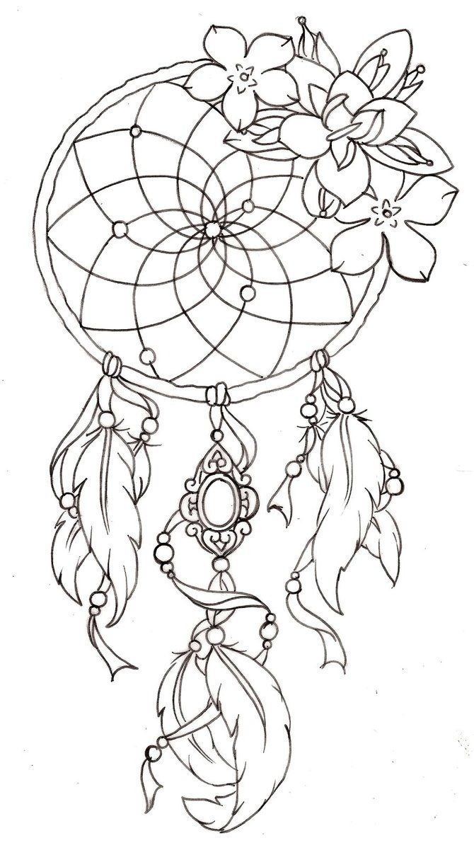 Dream catcher template tattoos i like pinterest best for Dream catcher tattoo template