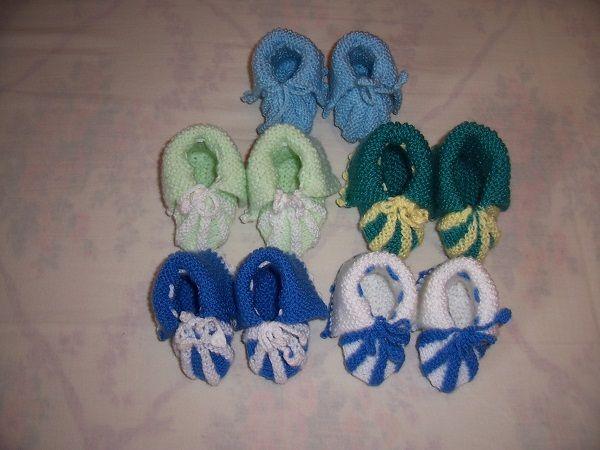 pletené bačkorky pro miminka