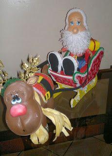 Manualidades TiendasOff: Santa en Trineo y Mamá Noela