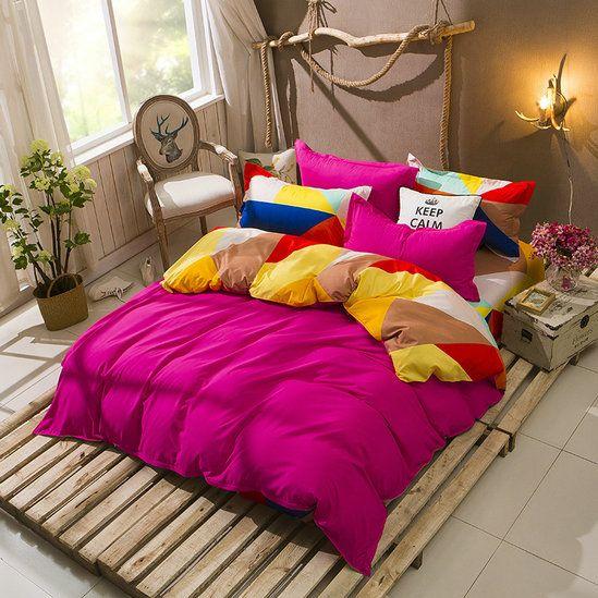 Obojstranné ružové posteľné obliečky z mikrovlákna