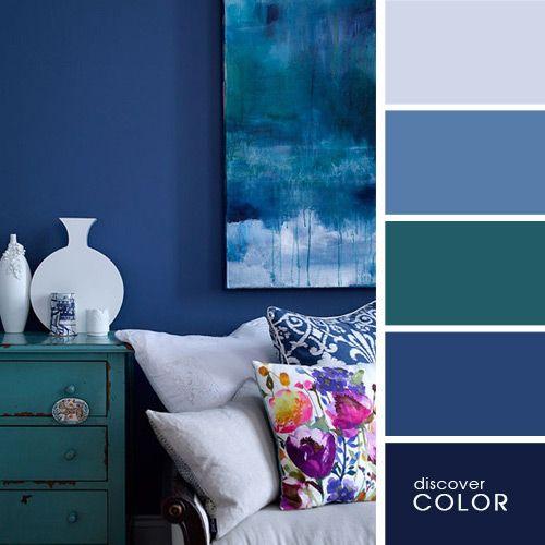 Гостиная в темно-синем | DiscoverColor.ru