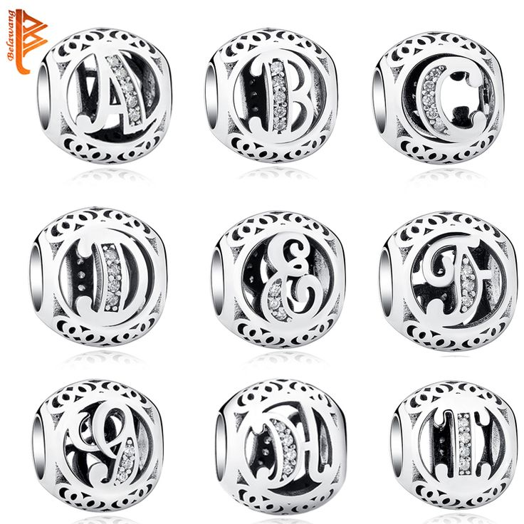 Authentic Sterling Silver 925 Jewelry Crystal Alphabet A-Z Letter Charm //Price: $14.66 & FREE Shipping //     #hashtag1