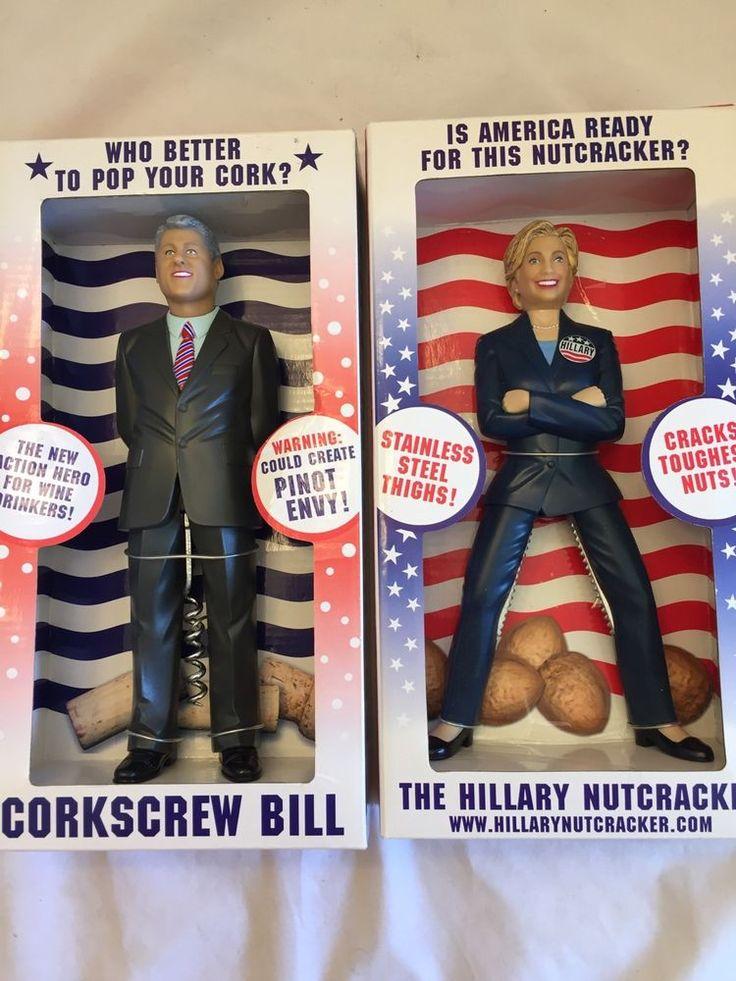 Hillary Nutcracker & Bill Corkscrew New NIB Gift