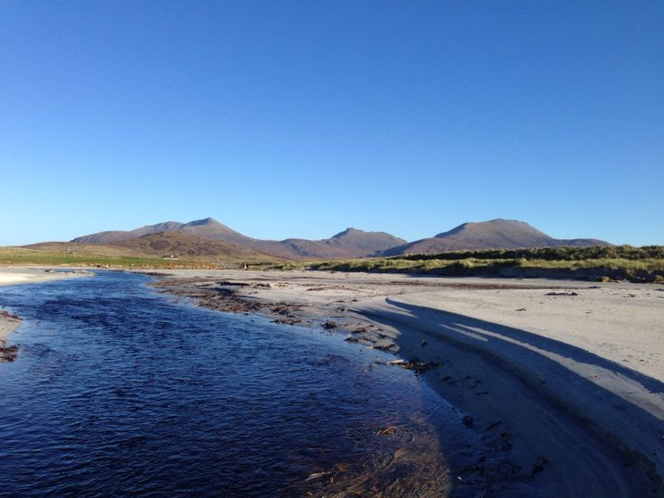 South Uist hills from the Howmore river