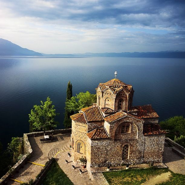 If you ever find yourself in Macedonia (FYROM), be sure to check out lake Ohrid and the stunning church of St John from where you get an amazing view of the lake. #roadtrip #ohrid #macedonia Discovered by Jonas Vesterlund at Church of St. John at Kaneo, Ohrid, Macedonia