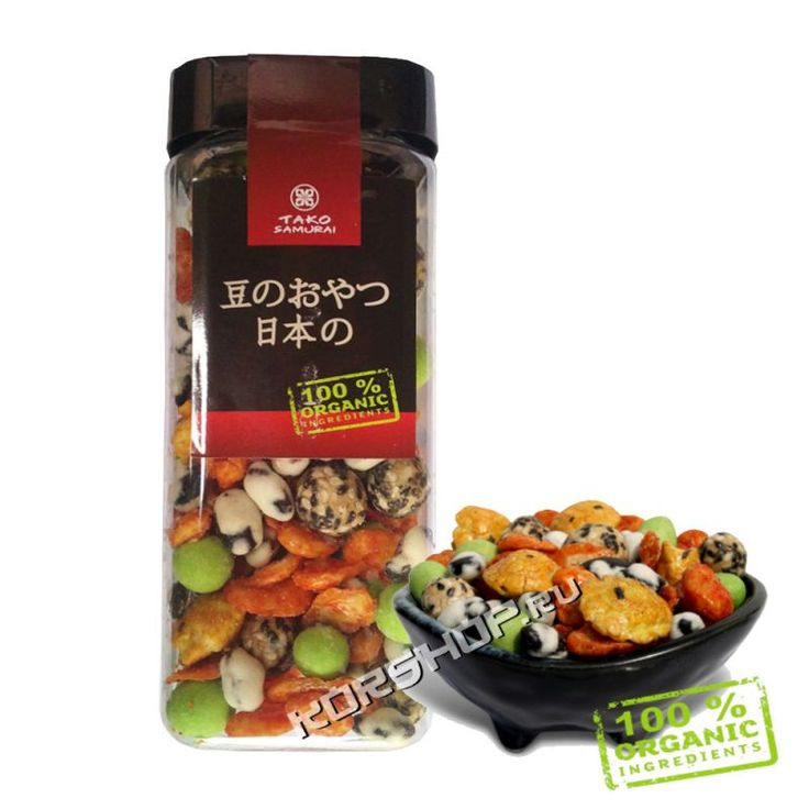Японский бобовый микс - снек ТАКО Самурай (5 вкусов) 200 г